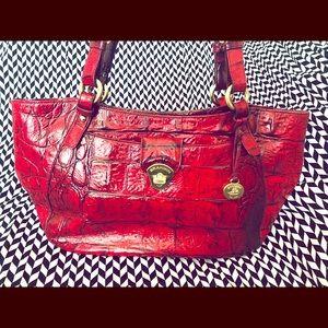 RARE Brahmin leather bag. Collette model in Red